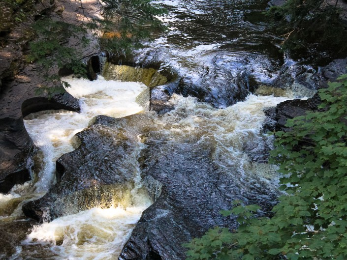Presque Isle River Waterfalls - Porcupine Mountains State Park, Michigan