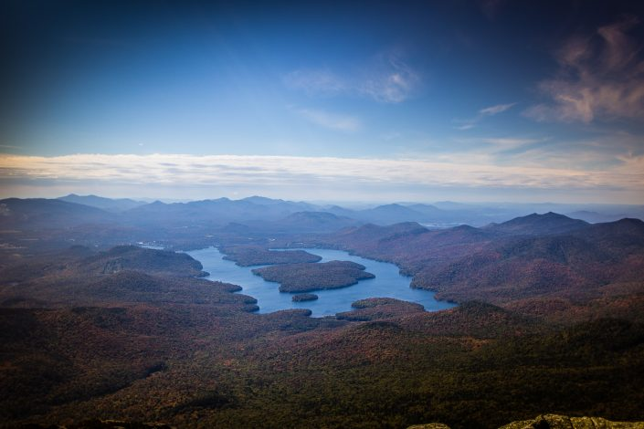 View of Lake Placid from Whiteface Mountain - Adirondacks, New York