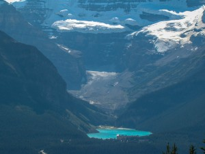 Lake Louise across the valley