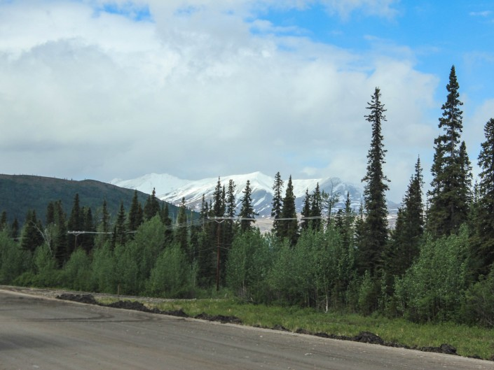 South on highway 1-A, Alaska