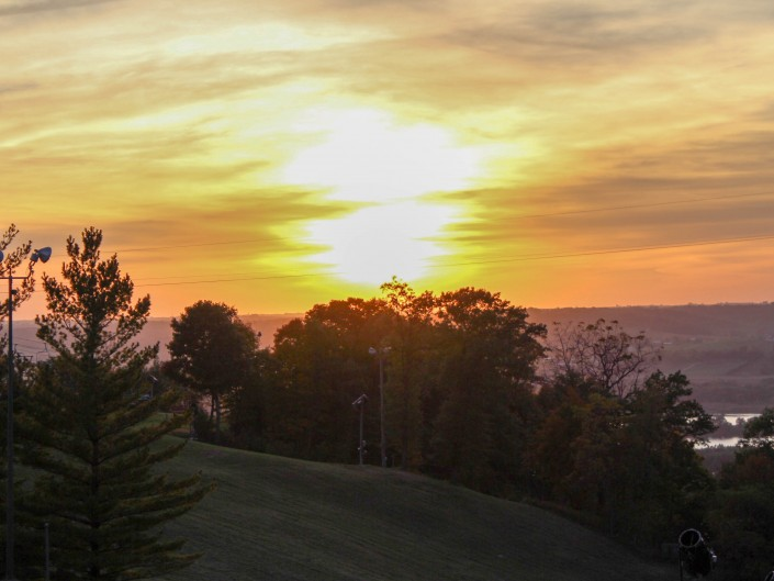 Sunset: Chestnut Mountain IL