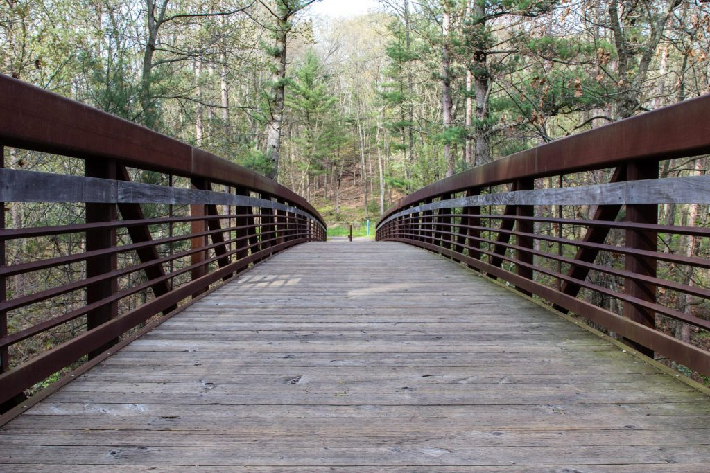Bridge to Ishnala Supper Club - MIrror Lake State Park