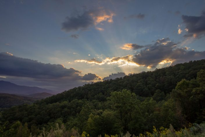 Sunset along the Foothills Parkway - Crosby, TN