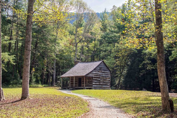 Carter Shields Cabin in Cades Cove - Smoky Mountain National Park