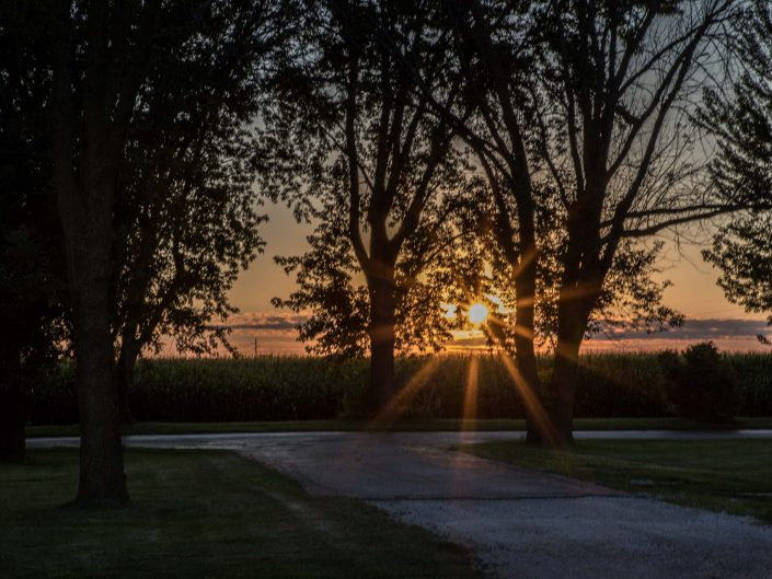 Sunset: D & W Lake Campground - Champaign Illinois