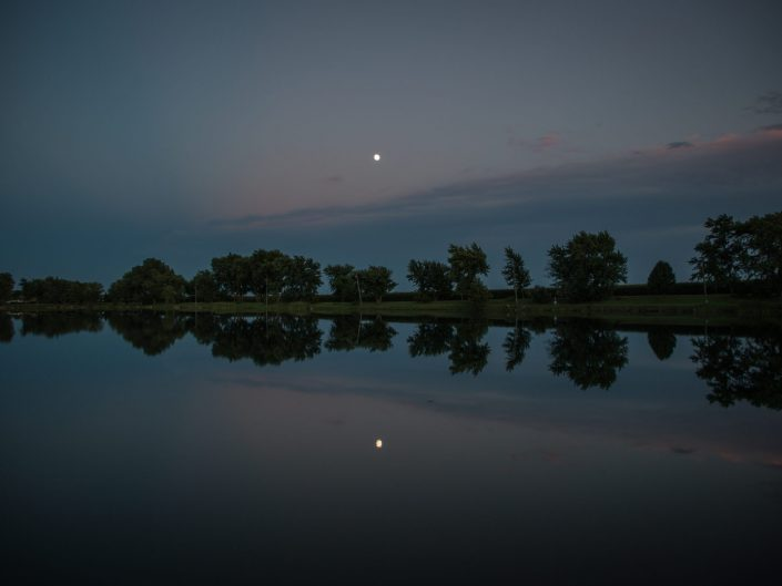 Twilight: D & W Lake Campground - Champaign Illinois