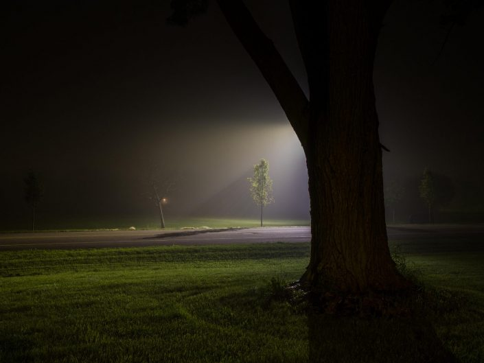 Foggy night - Hoffman Estates, Illinois