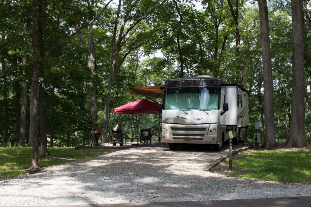 Ramsey Lake State Park Campground - Ramsey, Illinois